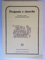 proposte e ricerche economia società nella storia dell'italia centrale 32 nuovo