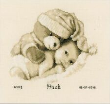 VERVACO 0155574 bebé con osito Bordado en contado
