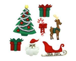 Christmas Eve Buttons & Flatbacks Jesse James Dress It Up Embellishments