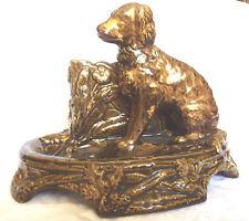 Gründerzeit-Tafelaufsatz: Hund und zwei Behältern