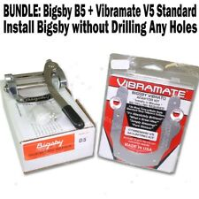 BUNDLE: Bigsby B5 Vibrato + Vibramate V5 Mount Kit Flat Tele SG Les Paul LP NEW