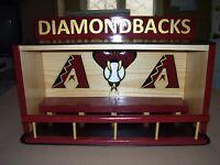 Arizona Diamondbacks display case for bobbleheads Dugout style   READ ADD C- PIC
