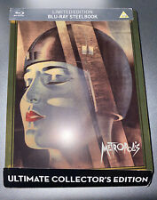 Metropolis (Blu-ray Disc, Limited Edition) Golden Steelbook EurekaRare Oop