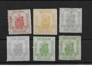 (S) Bechuanaland Stellaland 1884 issues cat £500+ (6v)