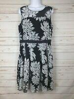 Ann Taylor Floral Sleeveless A Line Dress Size 10
