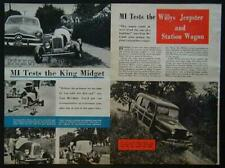 1st King Midget Roadster & Willys Jeepster Reviews 1950