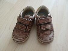 süße Schuhe Kinderschuhe Gr. 20 GEOX Respira Farbe braun Klettverschluss Leder