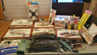 Lot 76 Tyco Ho Train Kits Track Bumpers Wire Buildings Truck & Magazines AS IS