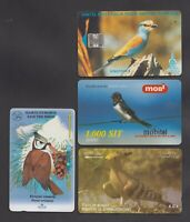 BIRDS - 4 fine used phone cards from Gambia Slovenia Kuwait Bulgaria