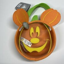 Disney Store Mickey Mouse Pumpkin Bag Trick or Treat Glows in Dark Halloween