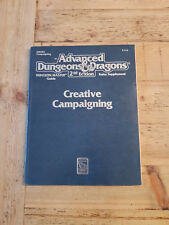Creative Campaigning, Advanced Dungeons & Dragons 2nd Ed. (AD&D), RPG