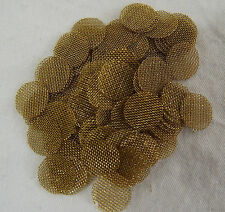"""100 + Count 3/8""""  .375"""" 9.525mm  Pipe Screens BRASS  USA MADE!"""