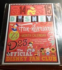 Disney D23 Member Fan-niversary 2014-2015 Magical Moments Calendar 23 Month