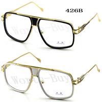 305cc0ac21 DMC Square Gazelle Club Clear Lens Frame Glasses Gold Mens Women Fashion  Hip Hop