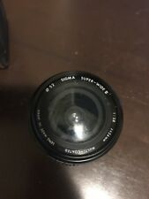 Sigma 24mm f = 2.8 Super Wide II 1:4 Macro Lens Contax/Yashica Mount RTS/139/167