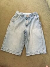 Arizona Jeans Blue Denim Boys Carpenter Shorts Size  18 Slim