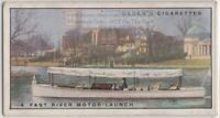 Thames Fast River Motor Launch Boat 1930s Ad Trade Card