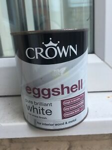 CROWN EGGSHELL PAINT / PURE BRILLIANT WHITE / 750 ML / NEW @LOOK@