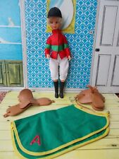 Fab rare 1970s blonde Anna Moore doll in original jockey outfit with extras!