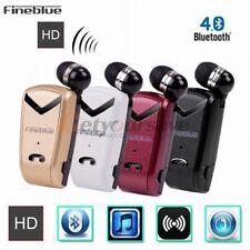 Fineblue F-V2 Wireless Bluetooth 4.0 Headset Earphone Headphone Retractable Clip