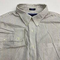 Croft & Barrow Button Up Dress Shirt Men's Size 18.5 36 Long Sleeve Striped
