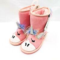 MUK LUKS Toddler Girls Size 10 Zoo Babies Pink Unicorn Boots Reverse Sequins