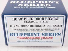 Branchline 1715 HO 50' Plug Door Boxcar Kit American Refrigerator Transit #3328