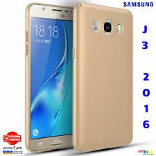 SAMSUNG GALAXY J3 2016 Cover Custodia Morbida Silicone Tpu ORO Slim