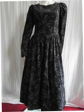 Laura Ashley Vintage Needlecord Autumn/ Winter 80's Classic Day Dress, 12 UK