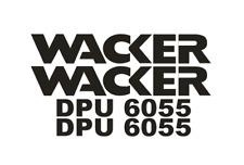 Sticker, aufkleber, decal - WACKER DPU 6055