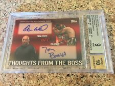 2010 Topps UFC Series 4 TFTB Dual Auto - DANA WHITE / JON JONES 03/25 - BGS 9