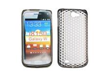 Silikon Tasche Rumpf Gel schwarz Diamant ~ Samsung GT i8150 Galaxy W