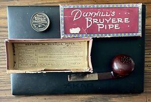Dunhill Bruyere Patent Pipe 5861-12 Pipe 45/M Briar Windcap W/ OG Box & Bowl Wax