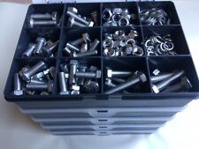 Assorted Stainless Steel Bolts Nuts Screws & Washers A2 Din 933 M8 Kit 310 pcs