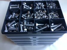 310 pcs M8 Assorted Bolts Nuts Screws & Washers Kit A2 Stainless Steel Din 933