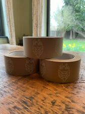 Pack of 3 Eco friendly Simple Sustainable recyclable packing tape 50m length