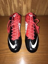Men's Red/Black NIKE Vapor Speed 3/4 Mid,TD Football/Rugby Cleats, Size 14, NEW
