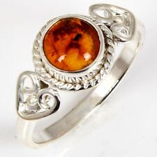 925 Sterling Silver BALTIC AMBER Fashion Gemstone Ring Size US 6 ebay India
