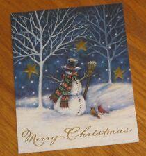 Karen Ware Erickson Art - Snowman Birds - Magic Christmas - Lang 8 x 6 Cards 4ct