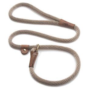 Mendota - Dog Puppy Leash - British Style Slip Lead - Tan - 4, 6 Foot