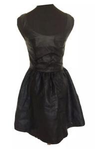 Kleid Kunstleder Bondage Latex Größe 36