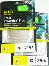 Rio Vorfächer Powerflex Plus 2er-Packg. - 2er-Set 9' / 2,75 - 7X / 0,128 mm