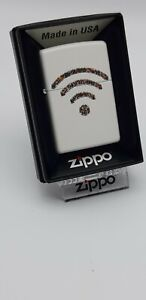 Original Zippo - Wifi People , white matt - 2016 -  Neu