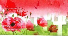 JERSEY REMEMBRANCE/POPPIES/FLANDERS/WW1 MINISHEET MNH 2014