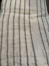 Restoration Hardware RH Italian Jacquard Fog Stripe Linen Shower Curtain X Long