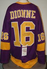 Marcel Dionne Los Angeles Kings Autographed Purple Jersey XL JSA Witnessed .[