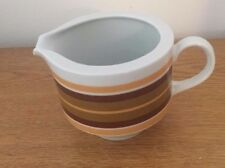 Mitterteich Bavaria ~ Brown & Orange Stripes ~ Creamer ~ Germany