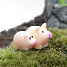 Mini 5pcs Pig Miniature Garden Lawn Ornament Decoration Figurine Diy Bonsai Yard
