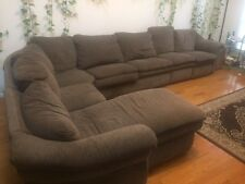 Comfy La-Z-Boy 7-Piece Sectional Sofa w/ Recliner,  9ft x 14ft