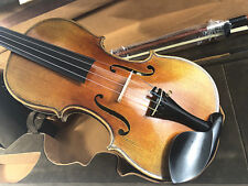 Good Sound 4/4 Antique flamed back Violin with Dominant string+Bow+Rosin+Case